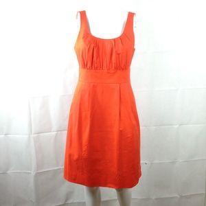J Crew Cotton Stretch Shift Dress Orange NWT Sz 6